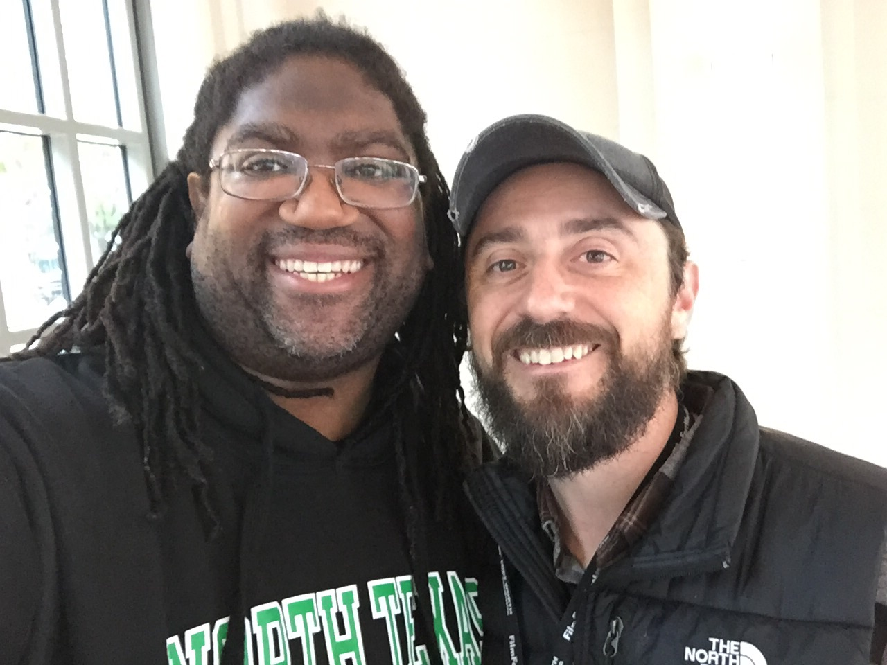 Michael Gibson Jr with filmmaker Adam Dietrich at the 2018 Lone Star Film Festival.