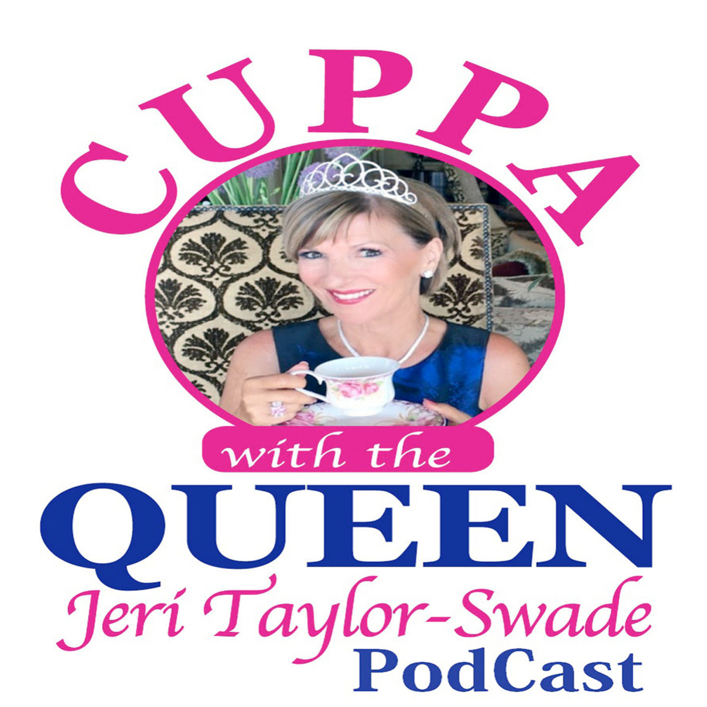 Cuppa with the Queen podcast show art