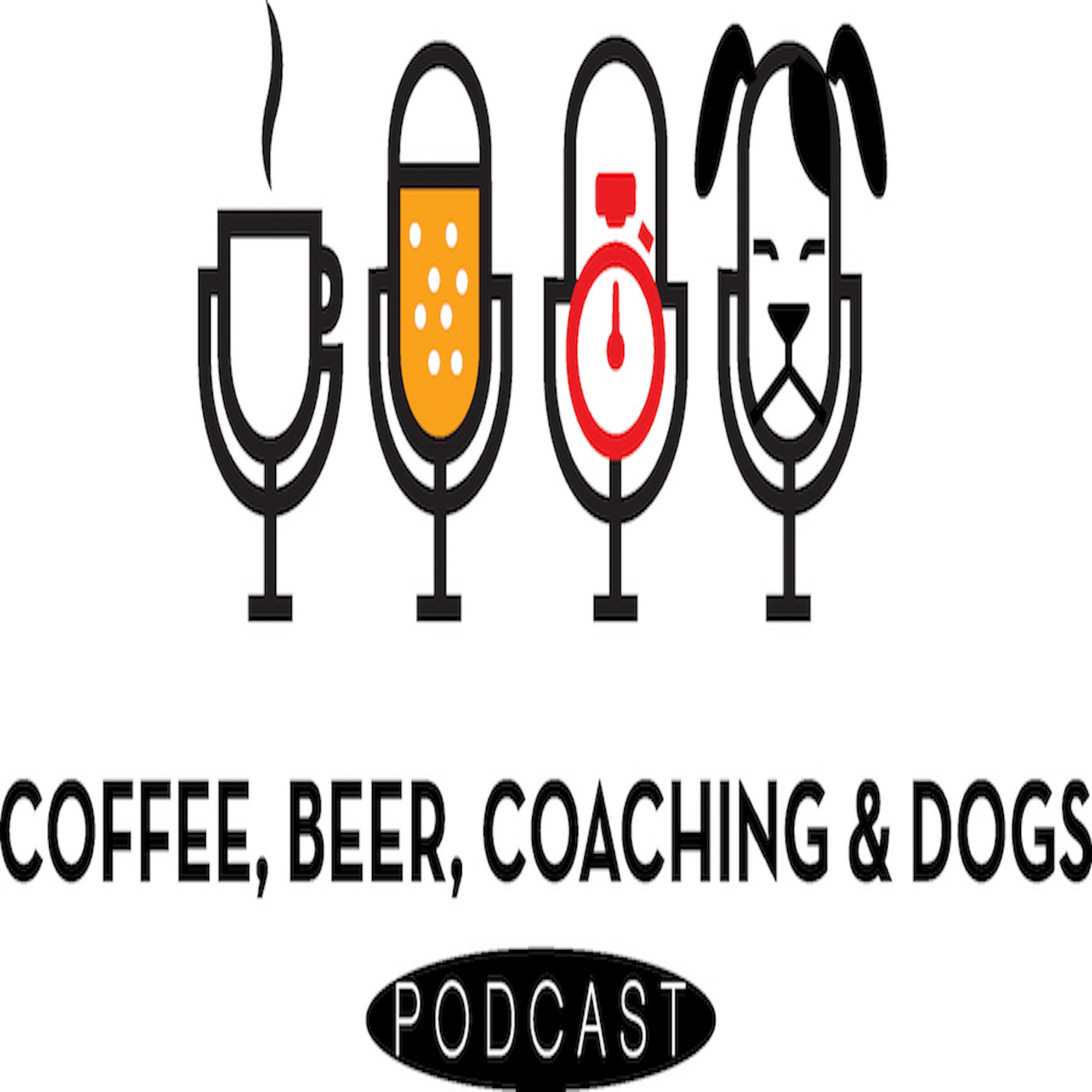 Coffee Beer Coaching and Dogs show art