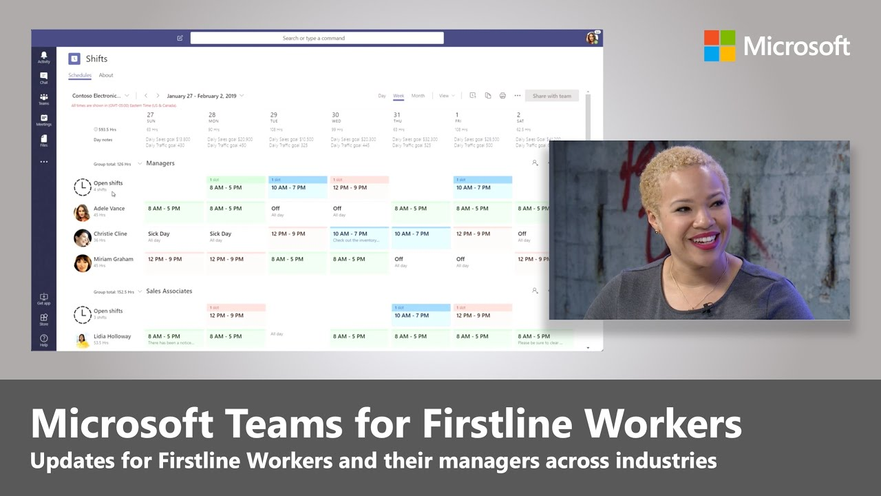 Artwork for Microsoft Teams updates for Firstline Workers