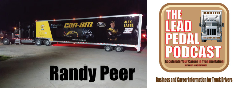 Hauling Race cars with Randy Peer