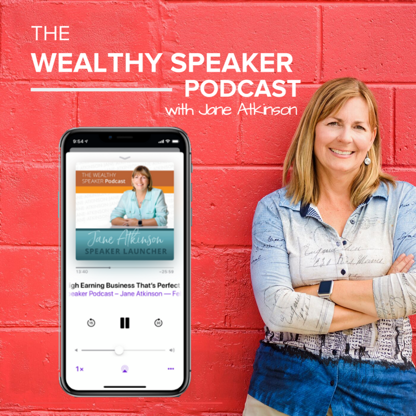 The Wealthy Speaker Podcast show art