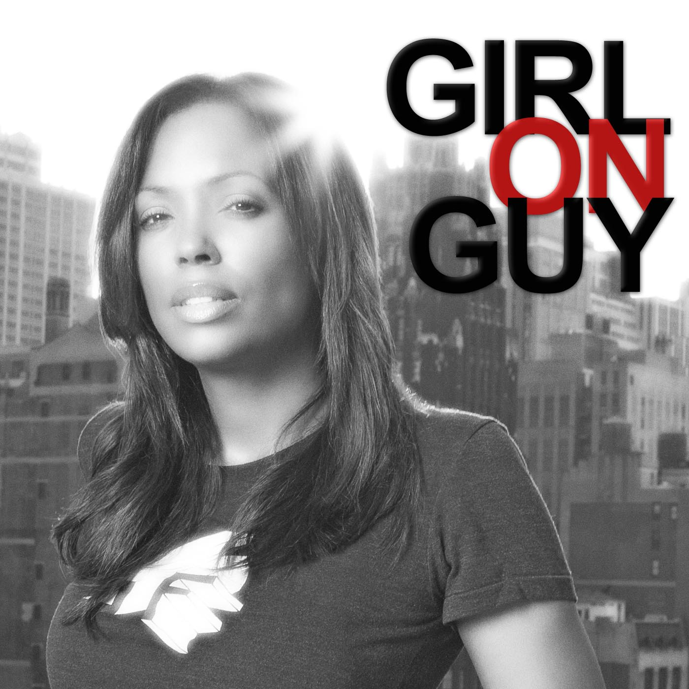 Girl on Guy with Aisha Tyler show art