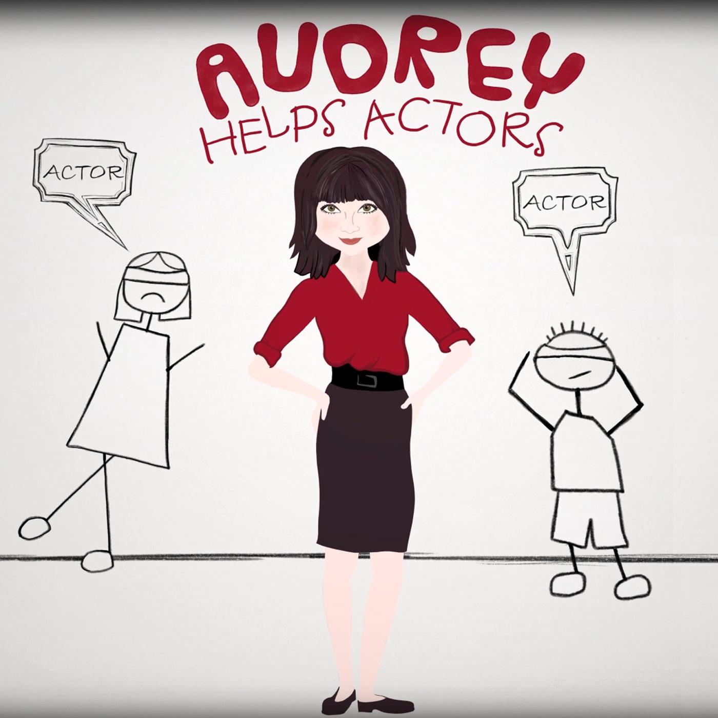 Audrey Helps Actors Podcast show art