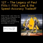Artwork for 127 – The Legacy of Paul Fitts I: Fitts' Law & the Speed-Accuracy Tradeoff