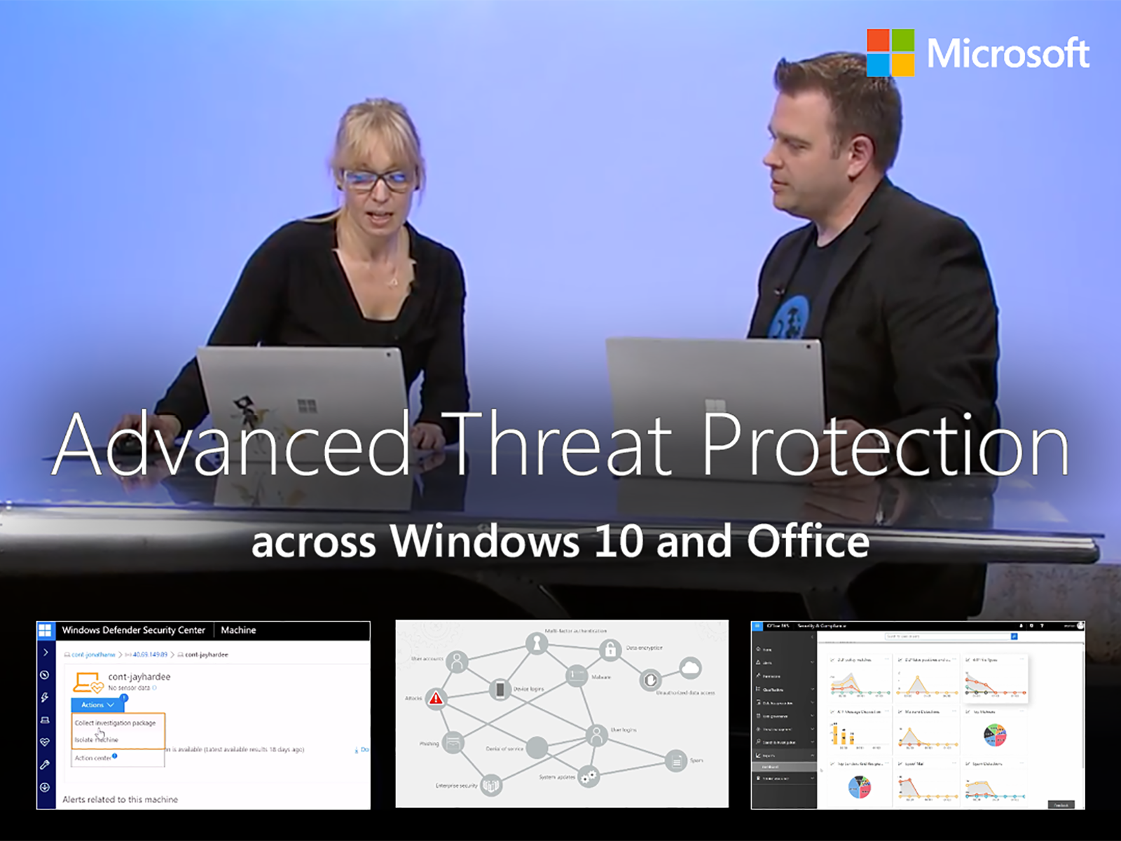 Artwork for Advanced Threat Protection across Windows 10 and Office