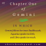 Artwork for Chapter One of Gemini