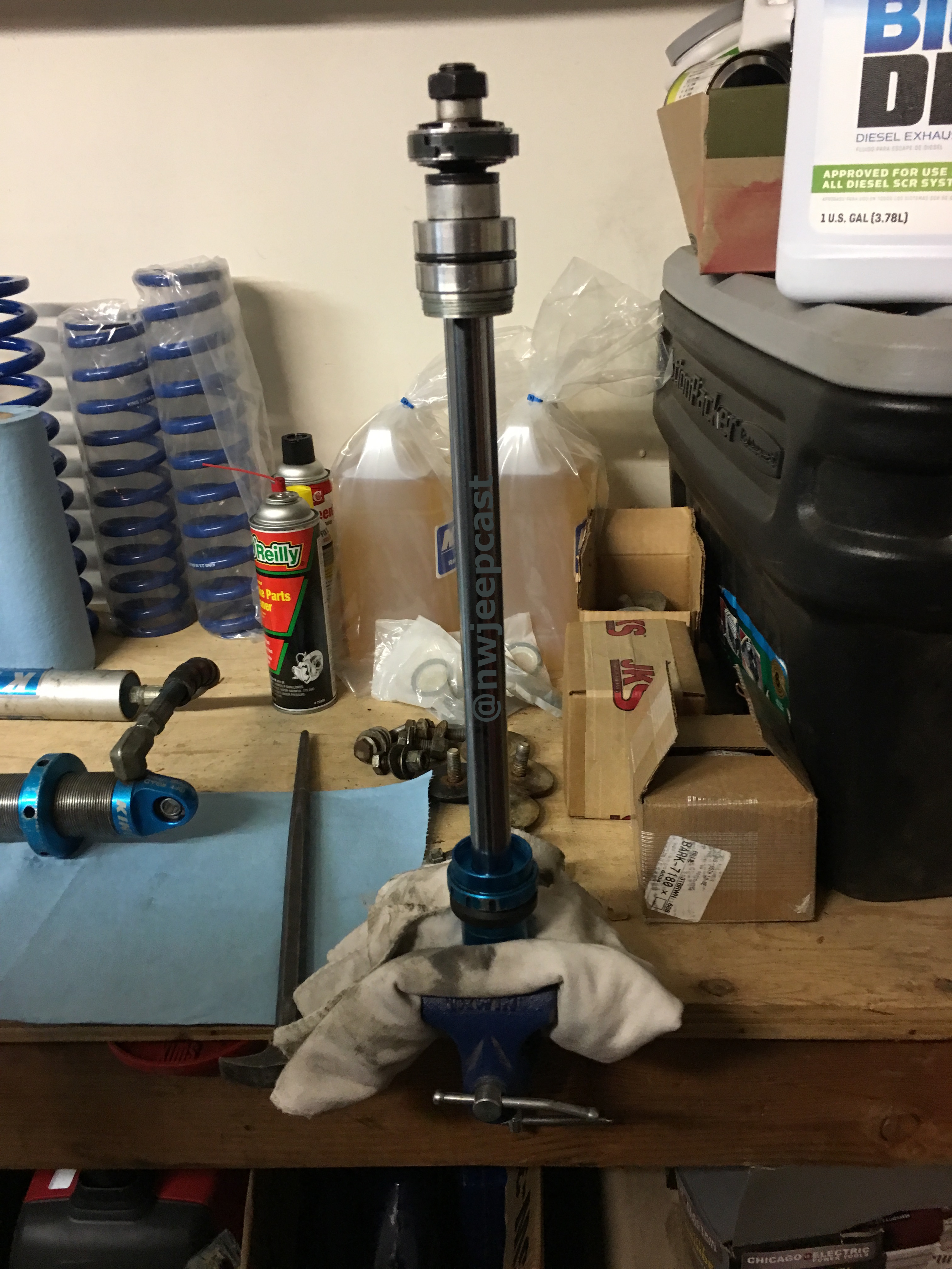 Northwest Jeepcast - A Jeep Podcast - a rebuilt King shock shaft