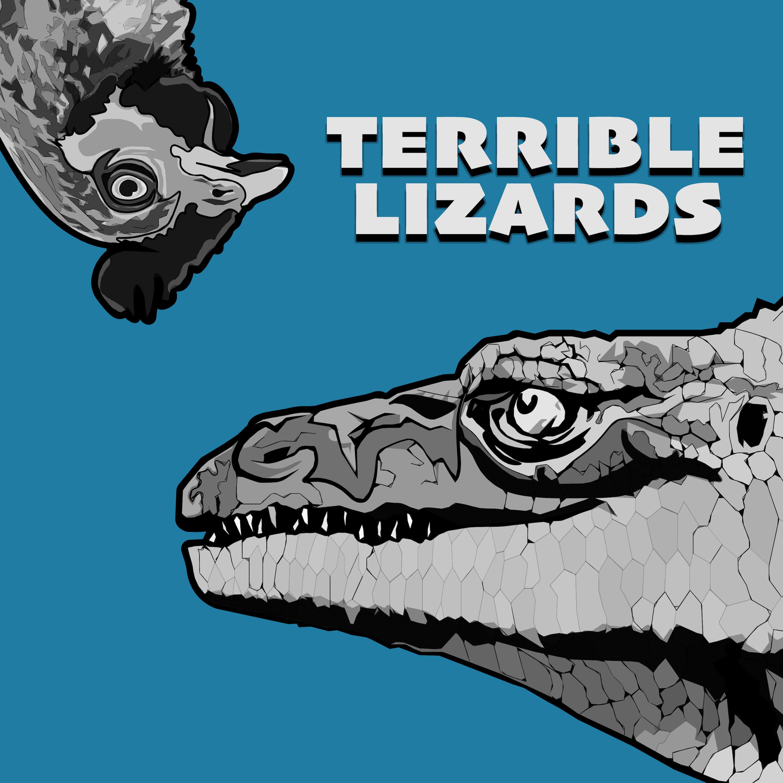 Terrible Lizards show art