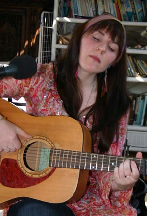 Dani Wilde in session on the Raven & Blues