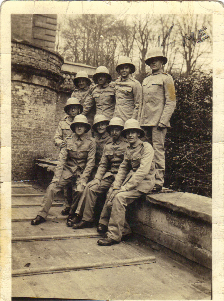 Signal platoon outside Marston House 1941, WW2