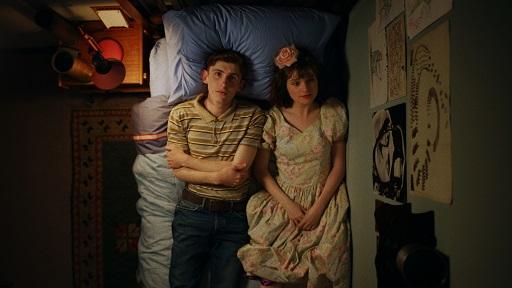 Fionn O'Shea and Lola Petticrew star in Dating Amber (2020).