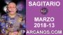Artwork for SAGITARIO MARZO 2018-13-25 al 31 Mar 2018-Amor Solteros Parejas Dinero Trabajo-ARCANOS.COM
