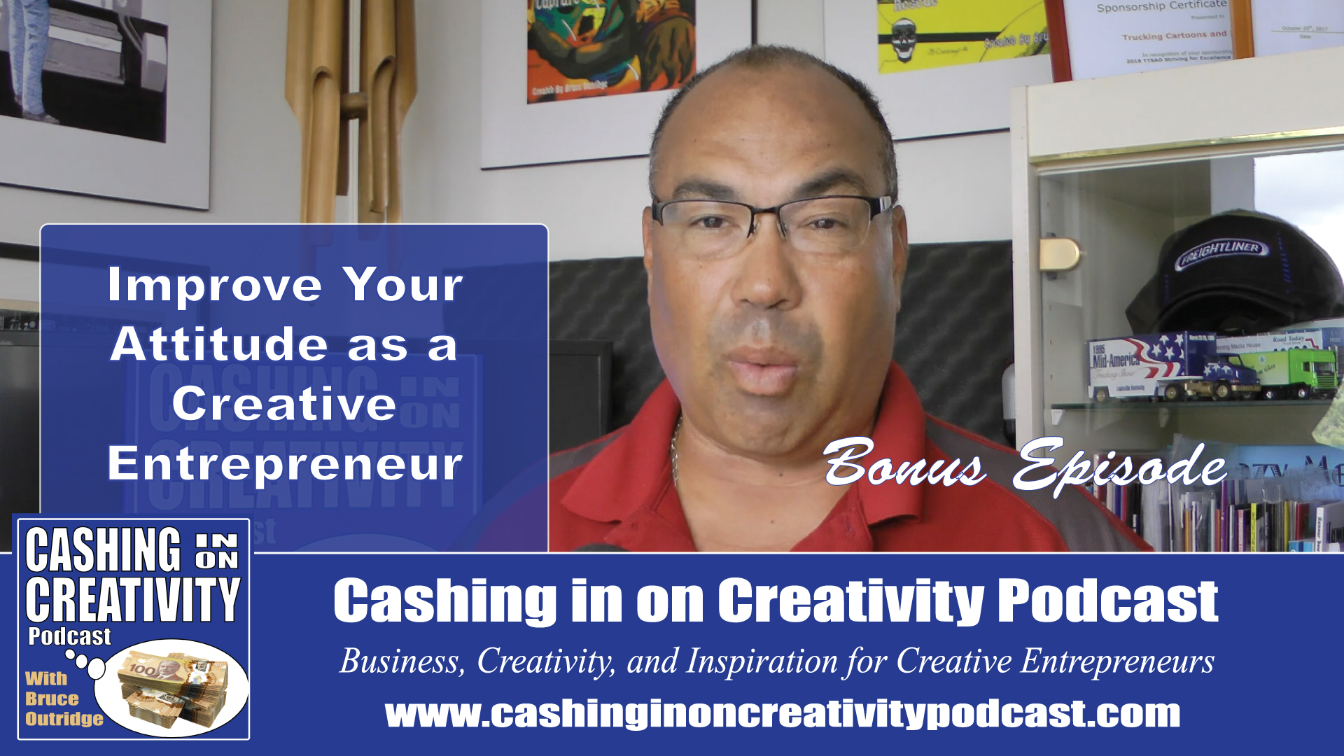 Keep Improving Yourself: Cashing In On Creativity Podcast For Creative