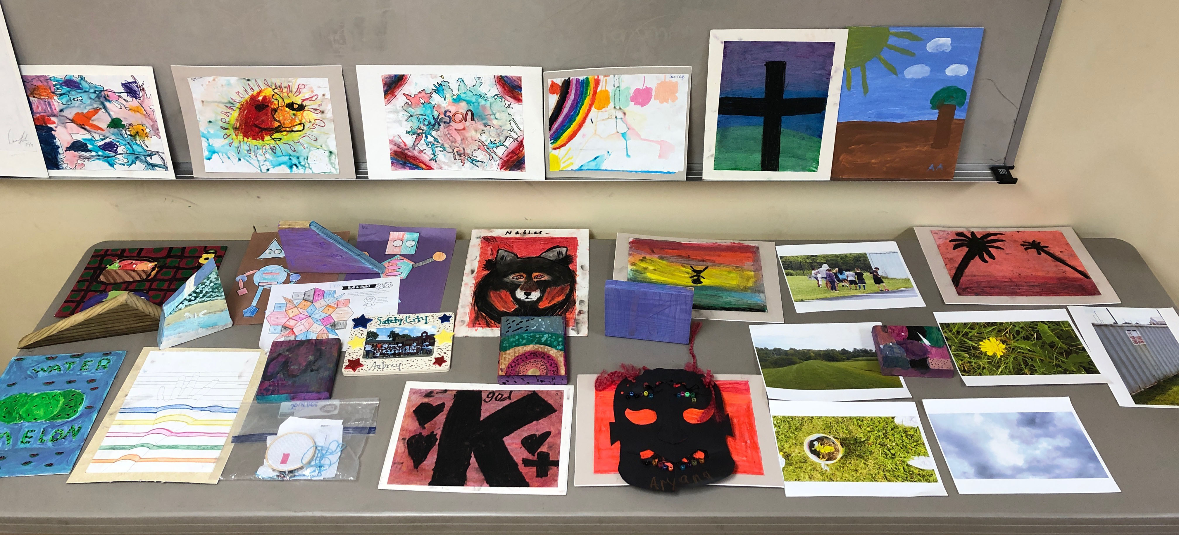 A sample of artwork created by students in the Summer Enrichment Program at Consolidated Baptist Church in Lexington