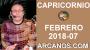 Artwork for CAPRICORNIO FEBRERO 2018-07-11 al 17 Feb 2018-Amor Solteros Parejas Dinero Trabajo-ARCANOS.COM