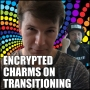 "Artwork for What to Expect on Hormones, an Interview with Transgender FTM Bitcoiner ""Encrypted Charms"""