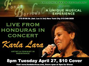 Honduras Protest in the USA:  Karla Lara, singing revolution