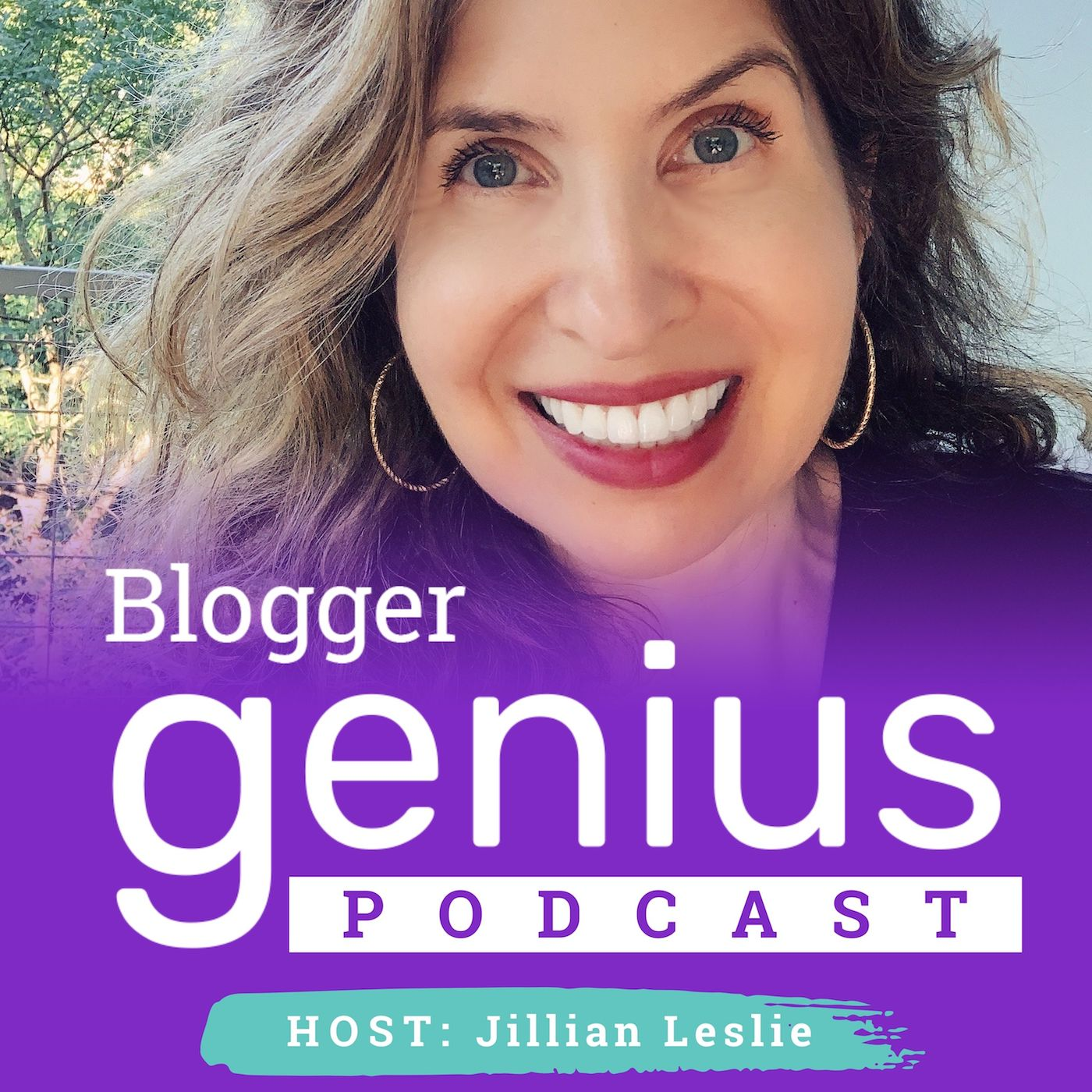 The Blogger Genius Podcast with Jillian Leslie show art