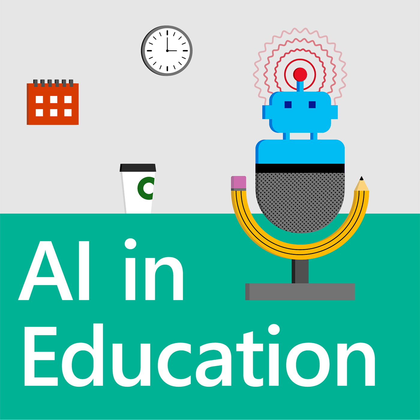 Artwork for AI in Education podcast - First Episode