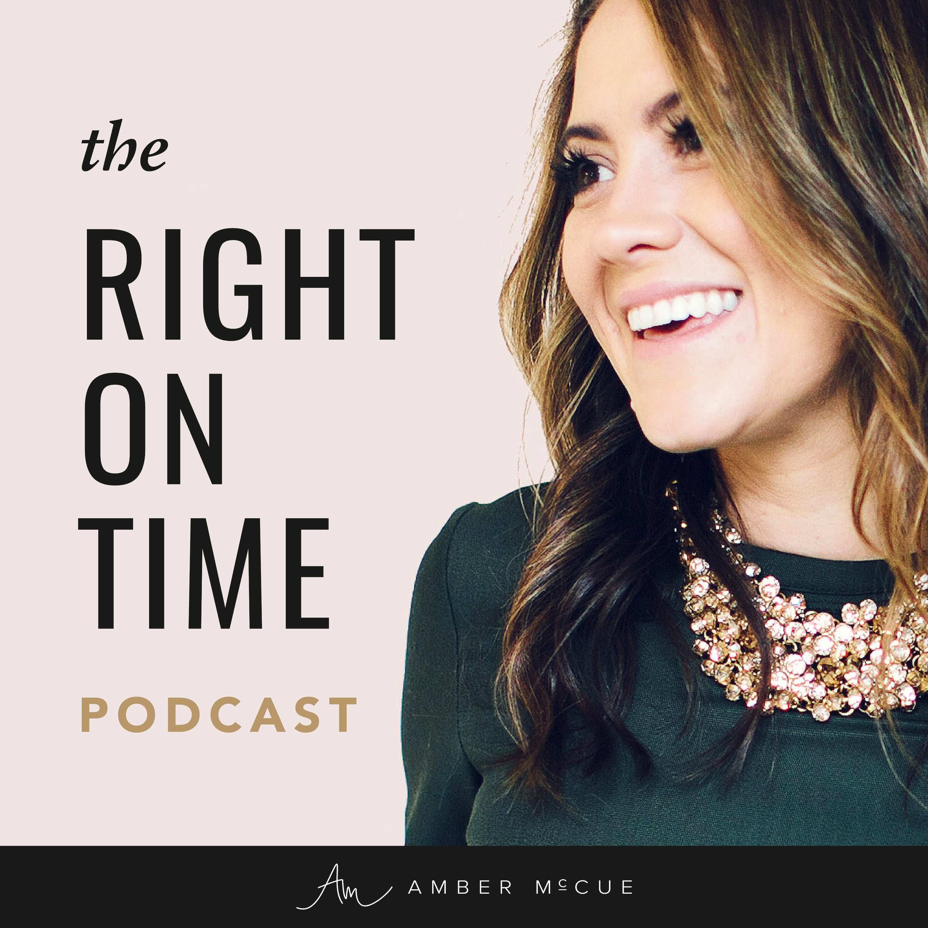 Right on Time Podcast show art
