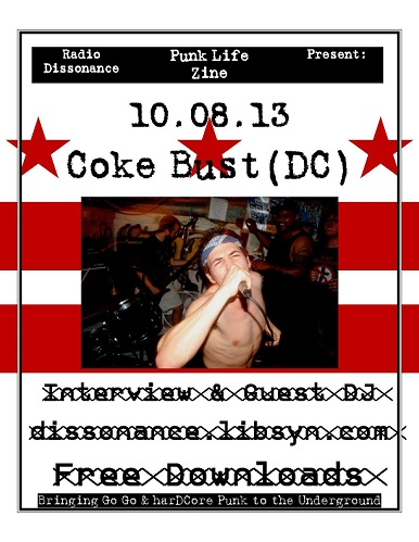 10-08-13 Nick Tape - (Coke Bust,  Sectarian Violence, ex Grip Tape, ex Rations et al) w. Punk Life Zine