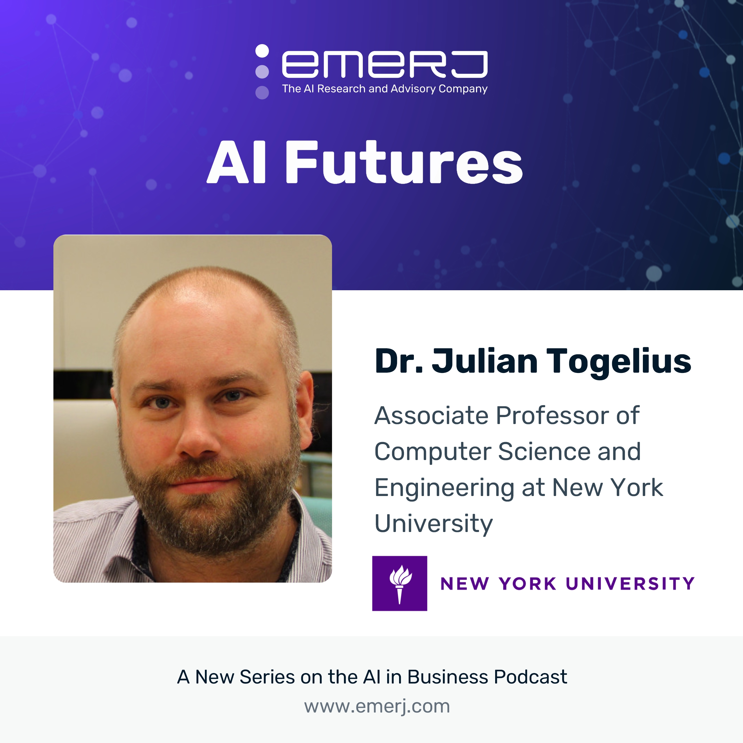 [AI Futures - S2E4] The Impact of Gaming and VR on the Future of AI - with Dr. Julian Togelius