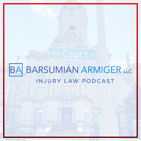 Barsumian Armiger Injury Law Podcast show art