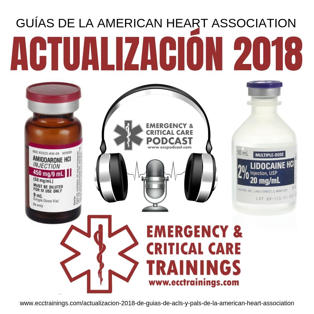 Actualización 2018 de Guías de ACLS y PALS de la American