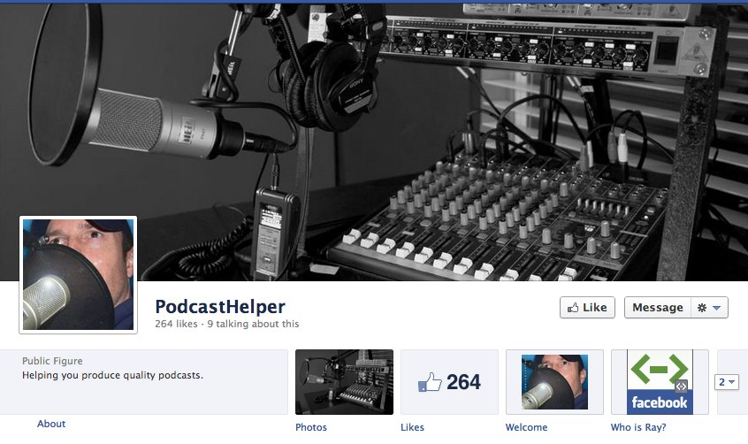 the podcast helper facebook page
