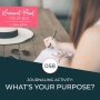 Artwork for 058 - Journaling Activity: What's Your Purpose?