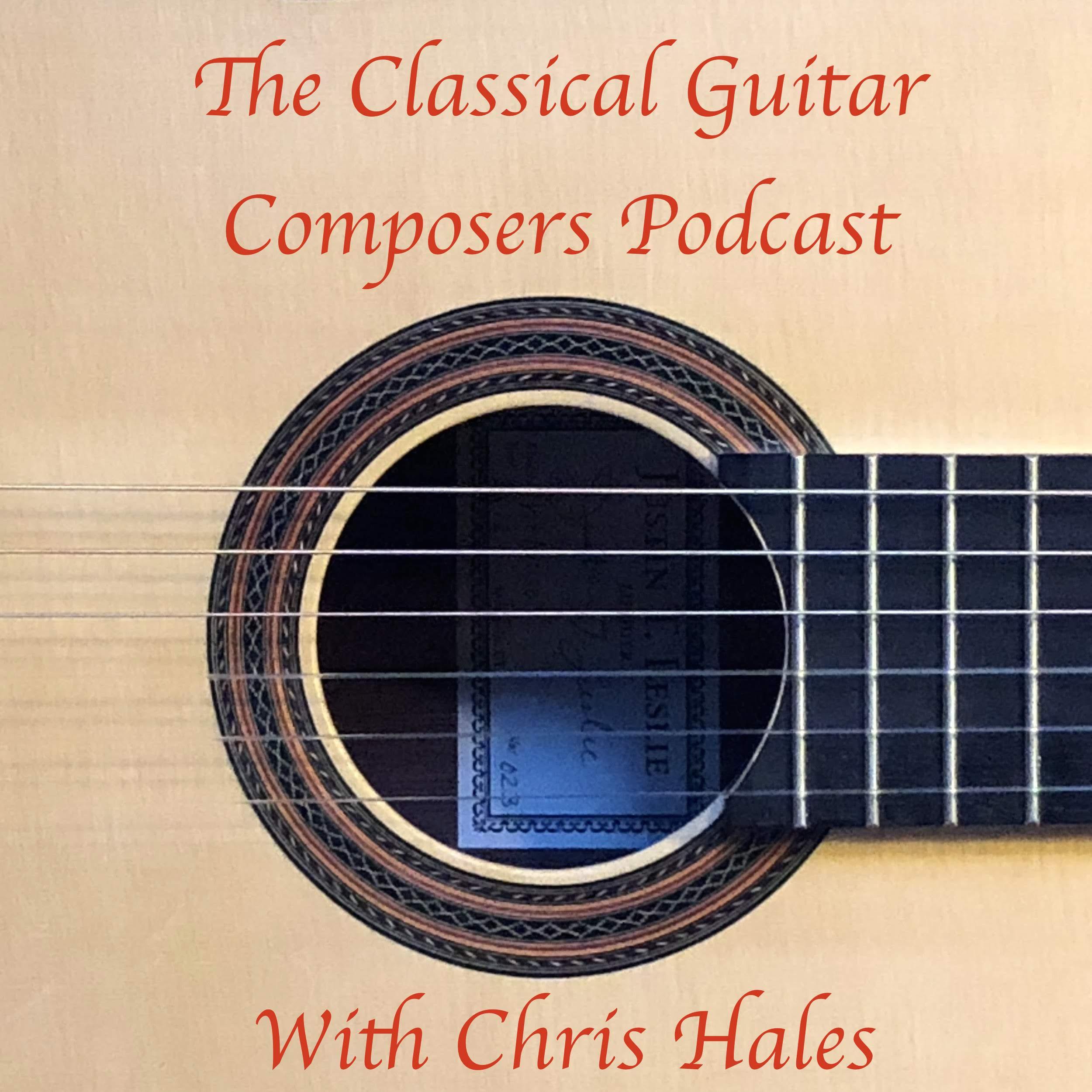 Classical Guitar Composers Podcast show art
