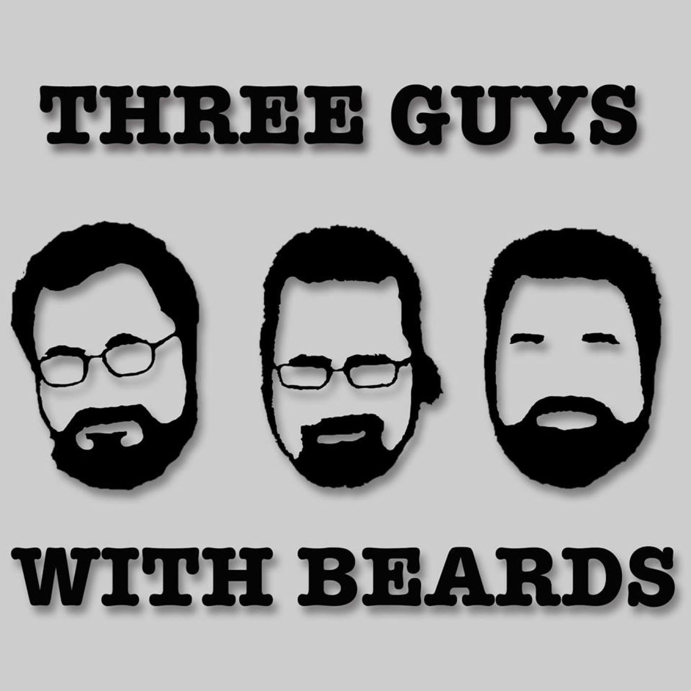 Artwork for Three Guys with Beards EP 002: Amber Benson Guest Stars