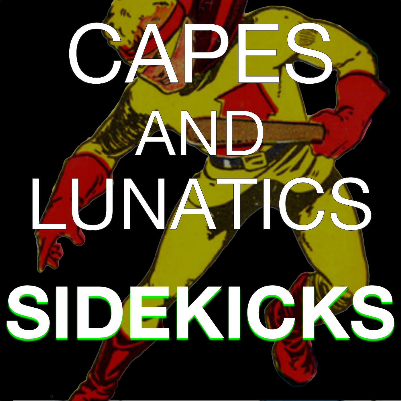 Capes and Lunatics Sidekicks show art