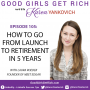 Artwork for 105 - How to Go From Launch to Retirement in 5 years with Laura Roeder