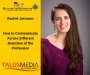 Artwork for Rachel Jermann- How to Communicate Across Different Branches of the Profession