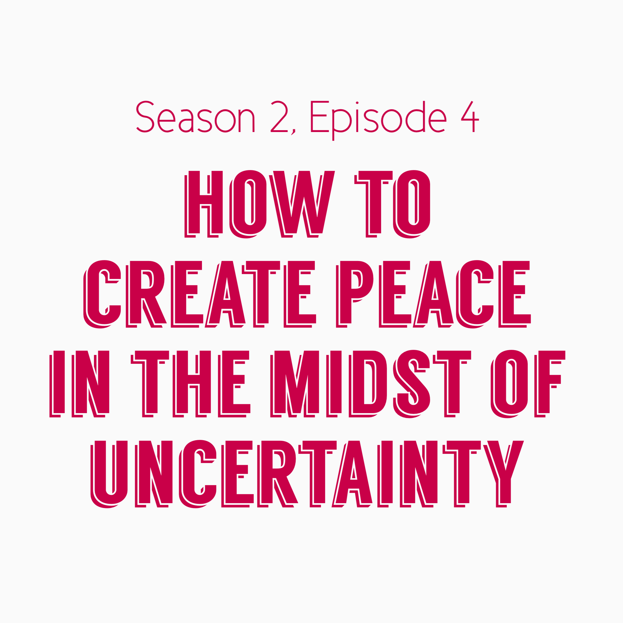 Mama's Mental Health - How to Create Peace in the Midst of Uncertainty