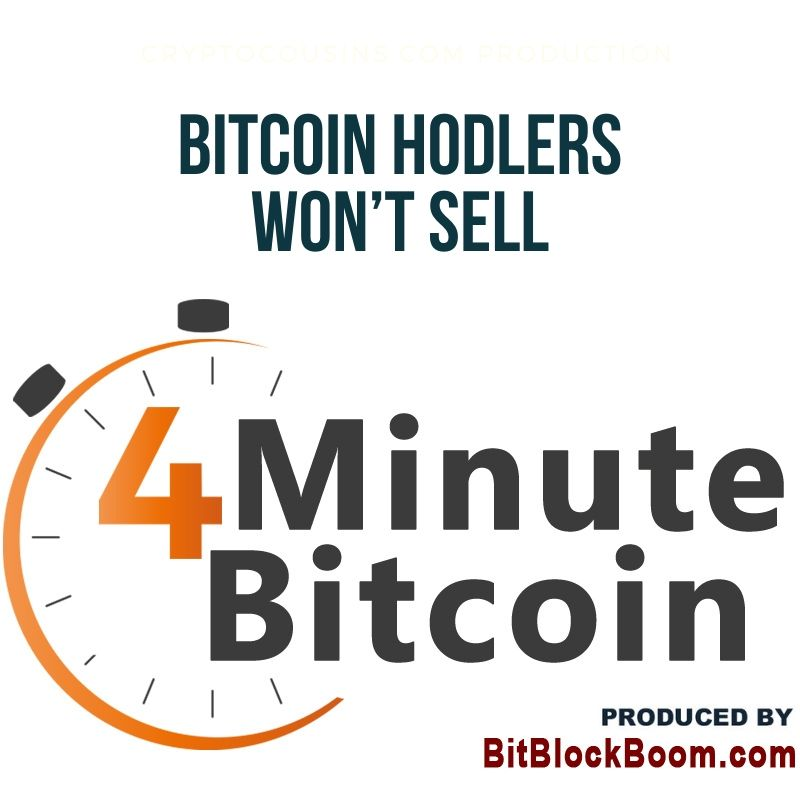 Bitcoin HODLers won't sell under $10k