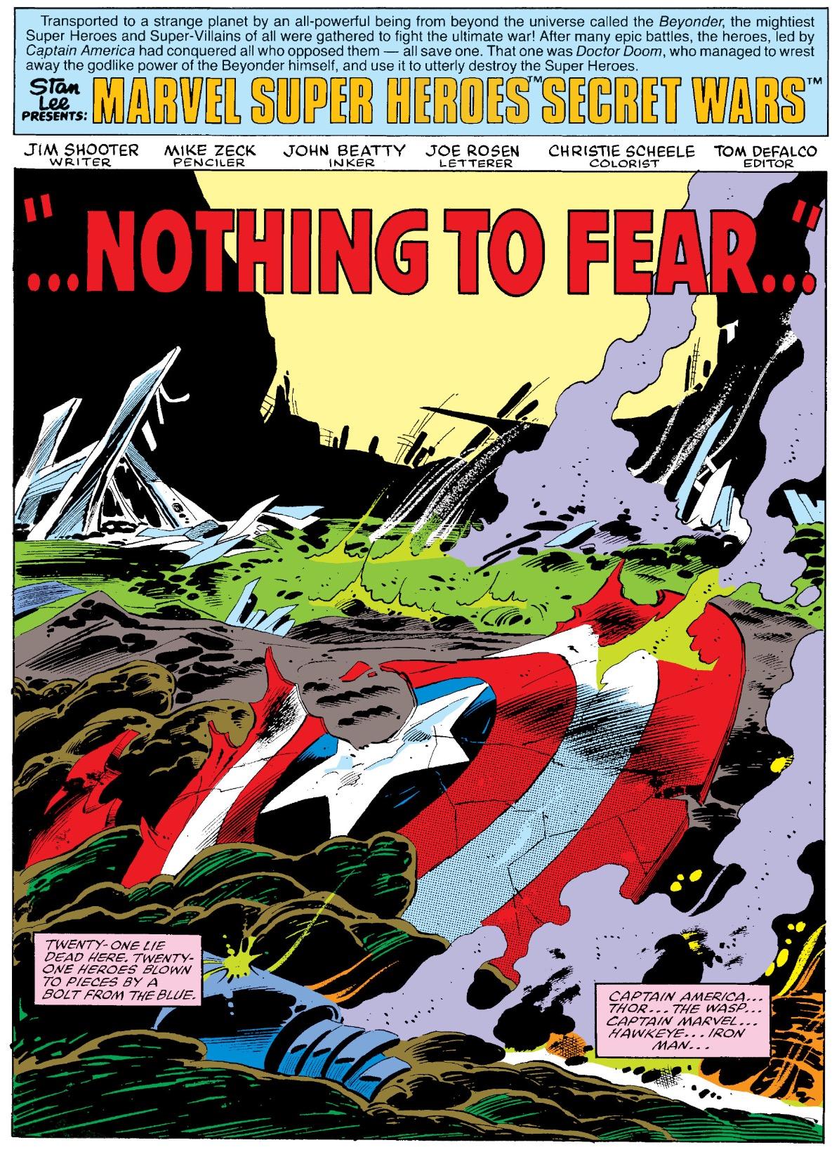 Image result for secret wars 1984 dead heroes