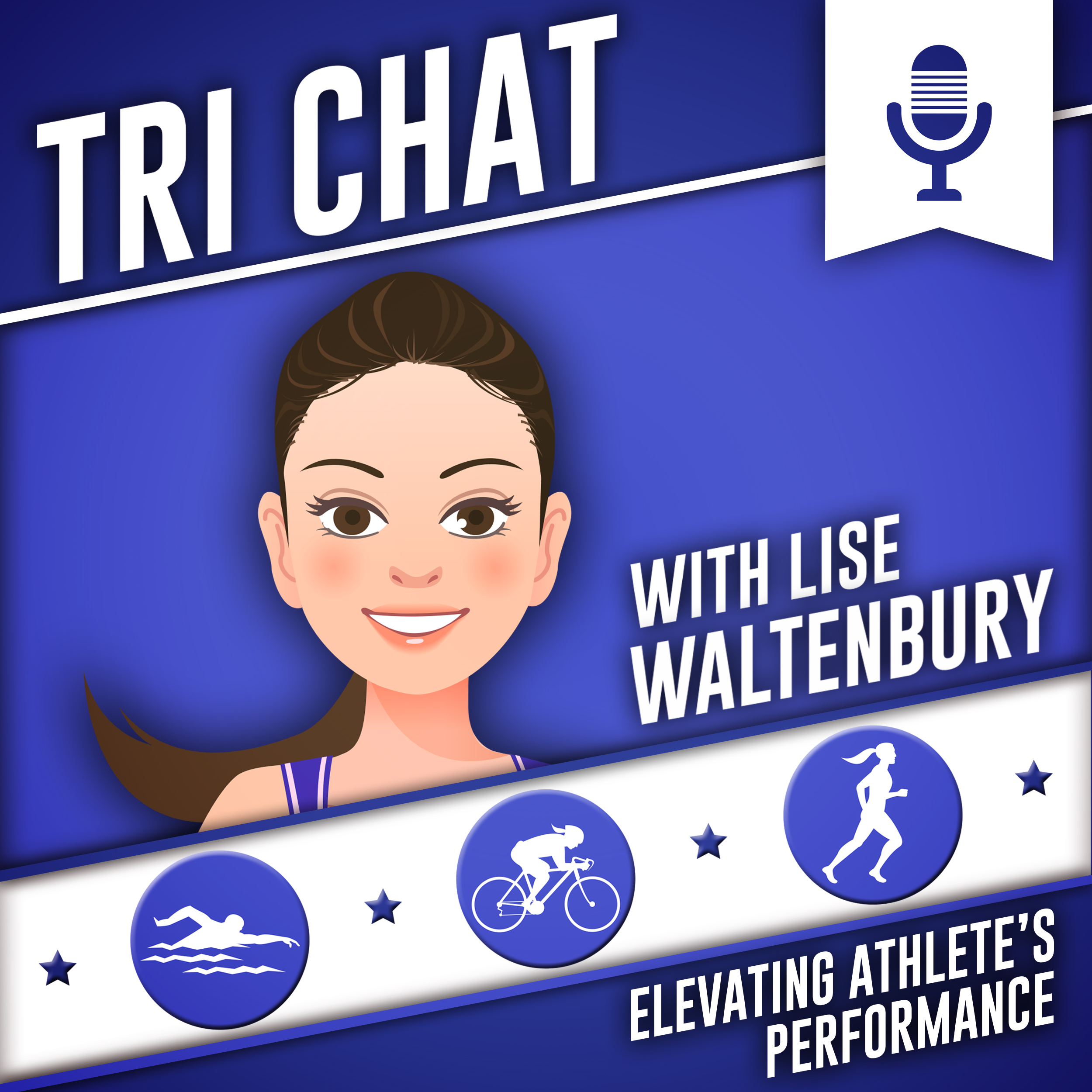 Tri Chat with Lise Waltenbury show art