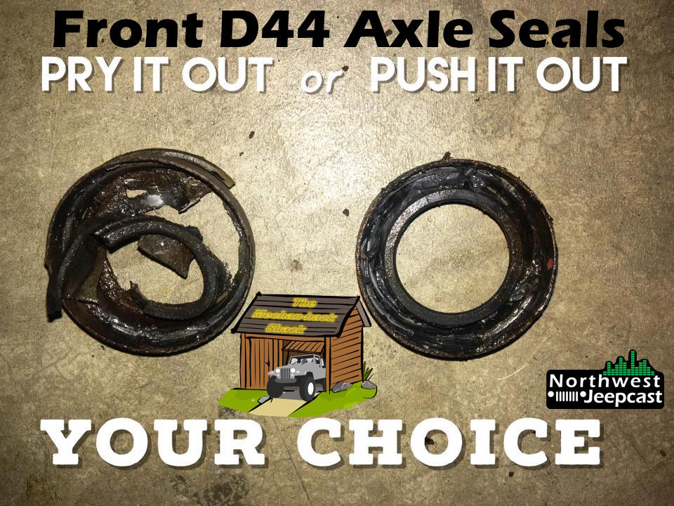 Northwest Jeepcast - Jeep Podcast - Dynatrac Front ProRock 44 Axle seal replacement