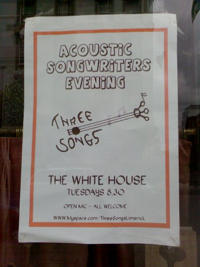 Acoustic Songwriters Evening - every Tuesday 20:30 WhiteHouse