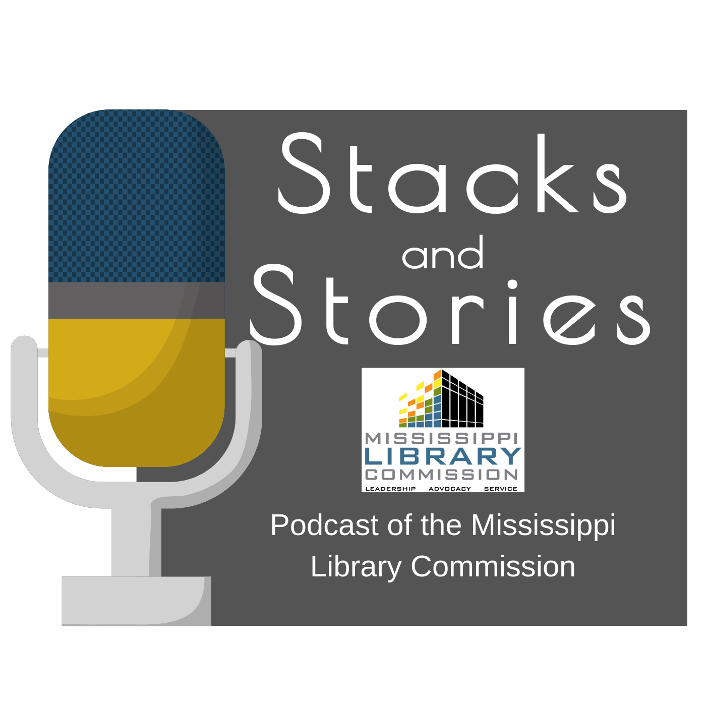 Stacks and Stories Podcast show art