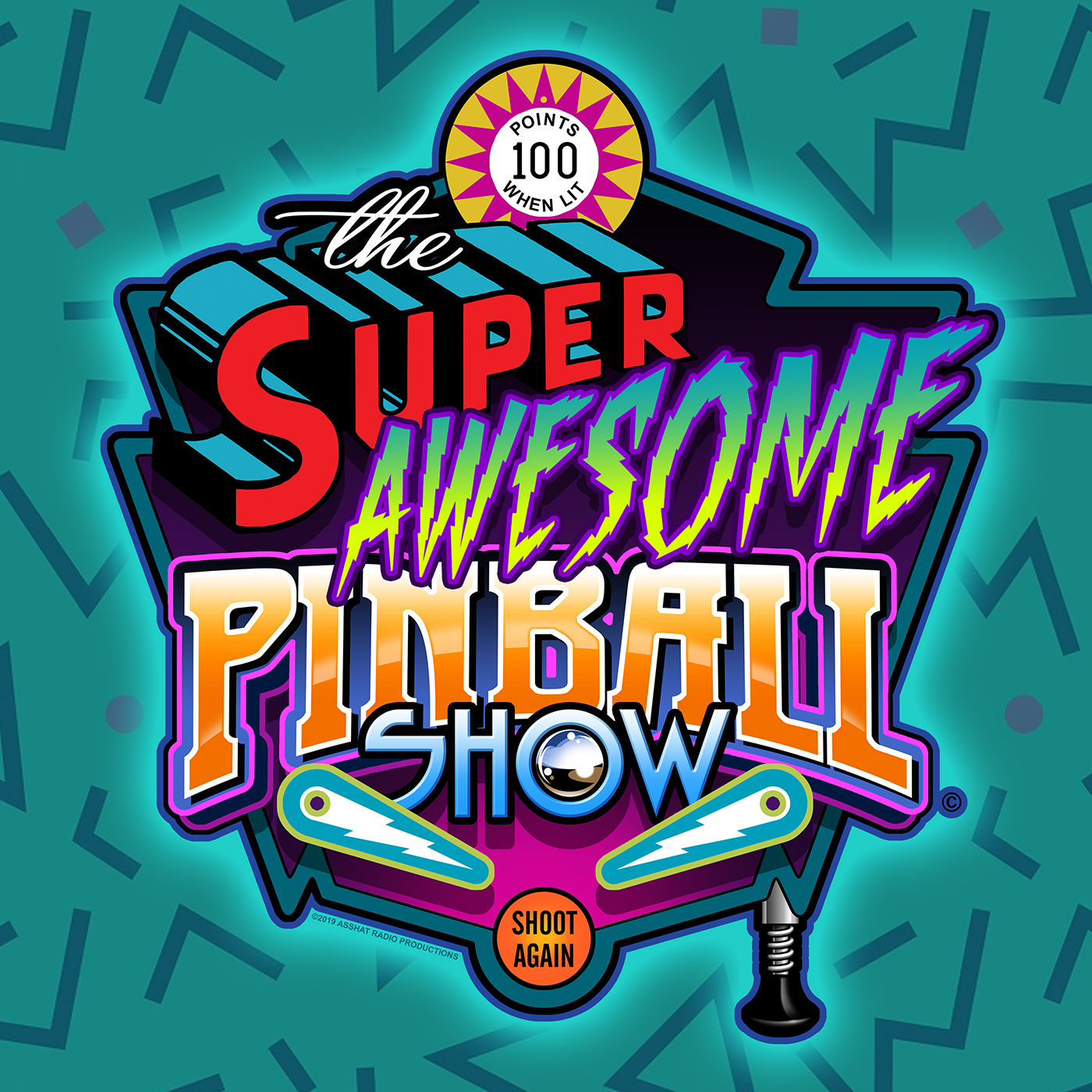 The Super Awesome Pinball Show show art