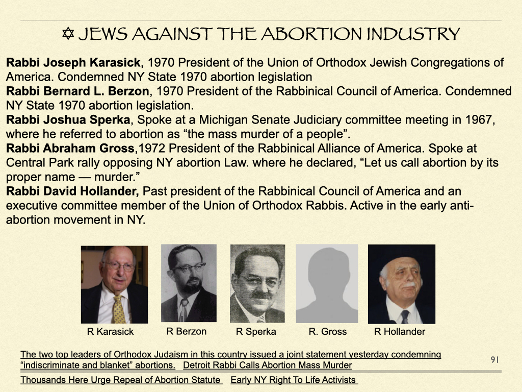 Jews Against The Abortion Industry