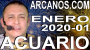 Artwork for ACUARIO ENERO 2020 ARCANOS.COM - Horoscopo 29 de diciembre de 2019 a 4 de enero de 2020 - Semana 1...
