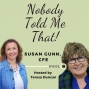 """Artwork for Ep. 34 """"Money In, Money Out"""" with Susan Gunn, CFE"""