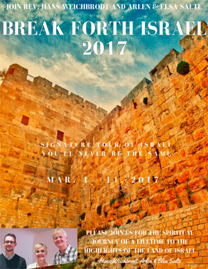 Break Forth Israel 2017 Brochure