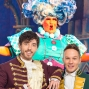 Artwork for Panto Dame Leon Craig in Oxford and Keith Jack and Olly Pike in Cinderella in Horsham
