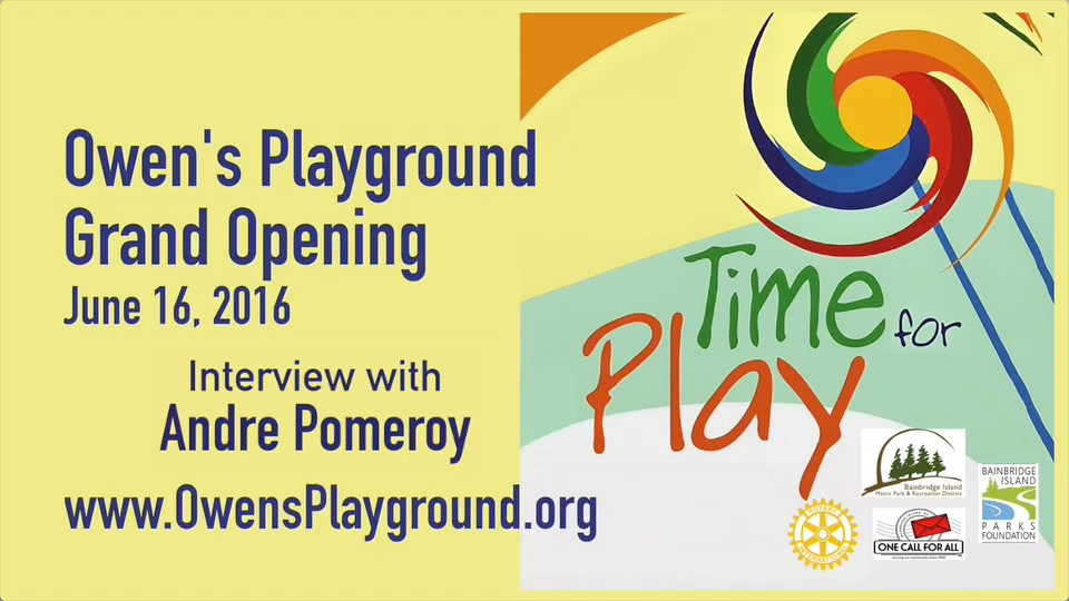 Artwork for Owen's Playground grand opening - Meet sculptor Andre Pomeroy (VID-006)